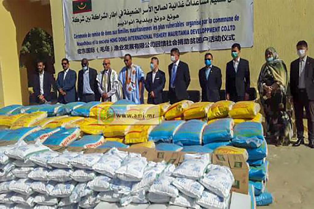 Aide alimentaire de la société chinoise poly Hondong à la commune de Nouadhibou