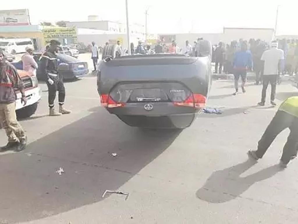 Accident spectaculaire au carrefour Sabah Nouakchott
