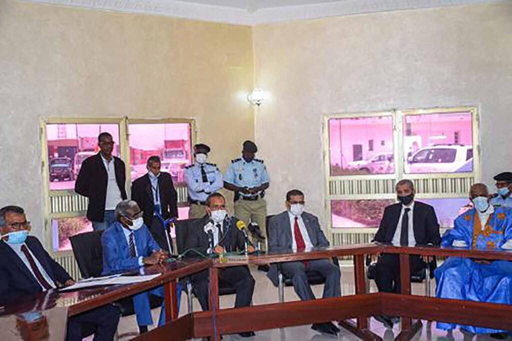 Règlement du problème des dockers du port de Nouakchott en présence du ministre