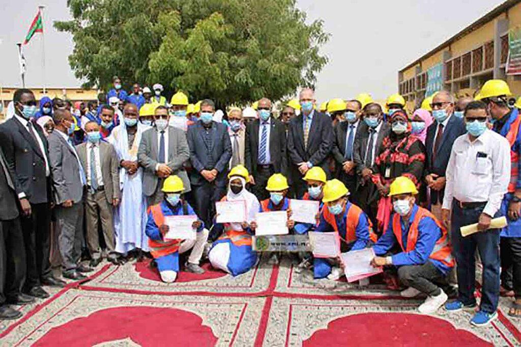60 jeunes reçoivent des certificats de formation dans le domaine du Bâtiment et des Travaux Publics