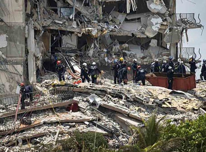Effondrement de l'immeuble près de Miami: le bilan passe à 5 morts et 156 disparus