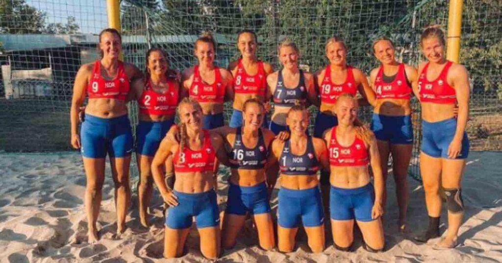 Pink veut payer l'amende de l'équipe norvégienne de handball punie pour ne pas avoir porté de bikini